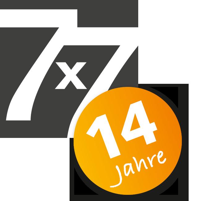 Logo 7x7 – 14 Jahre